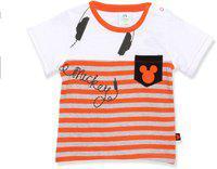 Disney Boys Graphic Print Cotton Blend T Shirt(Multicolor, Pack of 1)