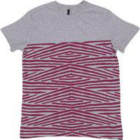 United Colors of Benetton Boys Striped Cotton Blend T Shirt(Grey, Pack of 1)