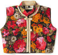 BownBee Girls Casual Poly Silk Top(Multicolor, Pack of 1)