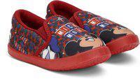 Disney Boys Slip on Sneakers(Red)