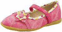 Yellow Bee Girls Strap Dancing Shoes(Pink)
