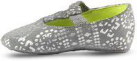 Beanz Girls Slip on Casual Boots(Silver)