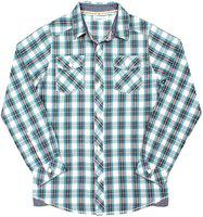 ShopperTree Boys Checkered Casual Blue Shirt