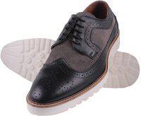 Aditi Wasan Genuine Leather Brogue Corporate Casuals For Men(Black, Grey)