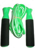 FACTO POWER BEARING GREEN SKIPPING ROPE Freestyle Skipping Rope(Green, Length: 320 cm)