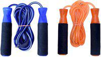 FACTO POWER BEARING BLUE AND ORANGE SKIPPING ROPE Freestyle Skipping Rope(Blue, Orange, Length: 320 cm)