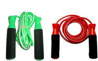 FACTO POWER BEARING GREEN AND RED SKIPPING ROPES Freestyle Skipping Rope(Green, Red, Length: 320 cm)