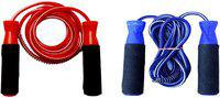 FACTO POWER BEARING RED AND BLUE SKIPPING ROPES Freestyle Skipping Rope(Red, Blue, Length: 320 cm)