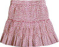 Caca Cina Floral Print Girls Tiered Red Skirt