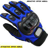 AOW ATTRACTIVE OFFER WORLD ATT-BLUE-XL-Z96 Riding Gloves(Blue)