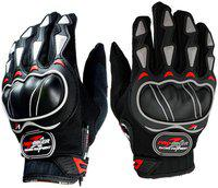 Probiker 1 Pair of Hand Grip for Bike Motorcycle Scooter - (Black & Red XXL) Riding Gloves(Black, Red)