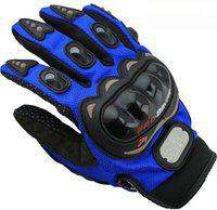 Pa PROBIKERZ(FULL)-L-BLUE-lo534 Riding Gloves(Blue, Black)