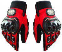 Pa PRO-BIKERZ-RED-ATT-(FULL-FINGERED)-XXL-Q8235 Riding Gloves(Red)