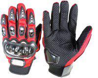 Pa PRO-BIKERZ-RED-ATT-(FULL-FINGERED)-XXL-Q8229 Riding Gloves(Red)