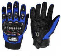 Pa PROBIKERZ(FULL)-L-BLUE-lo508 Riding Gloves(Blue, Black)