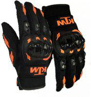 Babji MKT MG Riding Gloves(Black, Orange)