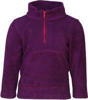 Nino Bambino Full Sleeve Round High Zipper Closure Neck Purple Winter Sweatshirt for Kids and Babies with Font Pockets