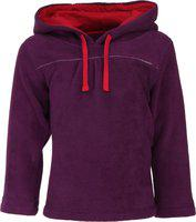 Nino Bambino Full Sleeve Purple Winter Sweatshirt for Kids and Babies with Hood