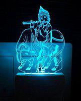 Ajanta Krishna Bhagwan With Cow(Code:2023) 3D Night Lamp(4 cm, Multicolor)