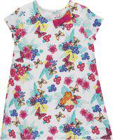 Chalk by Pantaloons White Poly Cotton Sleeveless Knee Length Princess Frock ( Pack of 1 )