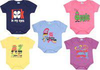 Dongli Baby Boys & Baby Girls LPURPLE, MPINK, RBLUE, LYELLOW, Navy Blue Bodysuit