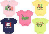 Dongli Baby Boys & Baby Girls MPINK, LYELLOW, LGREEN, LPINK, Navy Blue Bodysuit