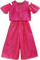 Twisha Girls Party(Festive) Top Pant(Pink)