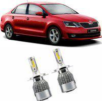 FABTEC Car Headlight for Skoda Fabia Car Fancy Lights(Silver)