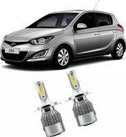 FABTEC Car Headlight for Hyundai i20 Car Fancy Lights(Silver)