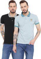 Duke Solid Men's Polo Neck Multicolor T-Shirt