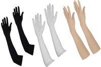Hind Home Cotton Arm Sleeve For Men & Women(Free, White, Black, Beige)