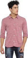Campus Sutra Men Solid Casual Spread Shirt