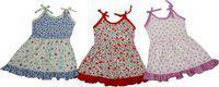 Adt Saral Girls Midi/Knee Length Casual Dress(Multicolor, Sleeveless)