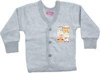 Yorker Top For Boy's & Girl's(Grey, Pack of 1)