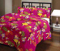 SUNJES Cartoon Double Dohar(Poly Cotton, Multicolor)