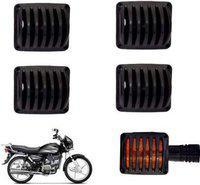 SHOP4U Spleandor Indicator Plastic Black Grill Cover Bike Headlight Grill(Black)