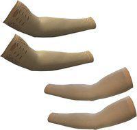 Stylewell Nylon Arm Sleeve For Men & Women(Free, Beige)