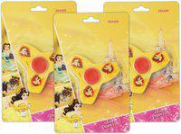 Disney BELL SPINNER ERASER - HMWSER 99554-BEL [3 PCS] Non-Toxic Eraser(Set of 3, Yellow)