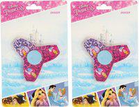 Disney CINDERELLA SPINNER ERASER - HMWSER 72260-CIN [2 PCS] Non-Toxic Eraser(Set of 2, Pink)