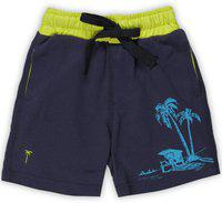 Palm Tree Short For Boys Casual Printed Cotton Blend(Dark Blue, Pack of 1)