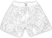 Palm Tree Short For Boys Casual Printed Cotton Blend(White, Pack of 1)