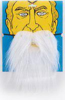 Jamboree Full Beard Fake Moustache(WHITE)