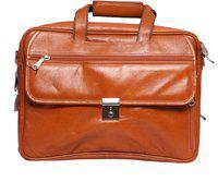 Obani Genuine Leather Laptop Shoulder Bag Tan. Dimensions: 15.50 x 5.50 x 11.50 (L x W x H)