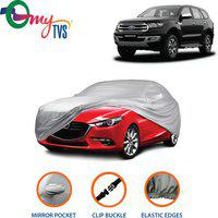 myTvs Car Cover For Ford Endeavour (With Mirror Pockets)(Silver)