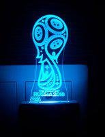 Ajanta Fifa World Cup 2018 (Code - 2082) 3d Night Lamp Night Lamp(4 cm, Multicolor)