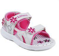 KITTENS Girls Velcro Flats(White)