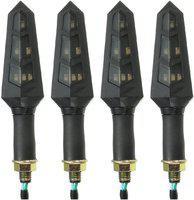 Bikers World Front, Rear LED Indicator Light for Bajaj Avenger 150, Avenger 200, Avenger 220, Avenger 220 DTS-i(Yellow)