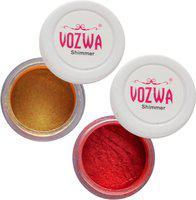 Vozwa Gold Gradient Eyeshadow Shimmer Powder and Marron Eyeshadow Shimmer Powder 7 g(Golden)