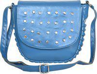 Roseberries Blue Sling Bag