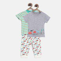MINI KLUB Boys Multicoloured Printed Clothing Set